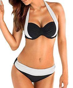 2017 hohe Taille Bikini Bademode Frauen Sexy Bank Badeanzug Badeanzug Push Up Brasilianische Biquini Maillot De Bain Sexy Bikini, Push Up Bikini, Bikini Sets, Bikini Girls, Women Bikini, Padded Swimsuits, Two Piece Swimsuits, Women Swimsuits, Swimsuits 2017