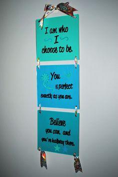 Affirming Wall Hanging Wall Art Teen Tween by BridgetsCollection, $20.00
