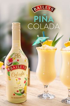 Vacation vibes are served! Sip on our NEW Limited Edition Baileys Colada and you'll be in a summer state of mind, Piña Colada in hand.   Liquor Drinks, Dessert Drinks, Cocktail Drinks, Alcoholic Drinks, Beverages, Cocktails, Martinis, Desserts, Cocktail Recipes