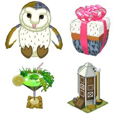 #Webkinz Signature Barn Owl sneak peek.  Pet Special Item is Sneaky Silo.  Pet Special Food is Gourmet Cricket Cocktail.
