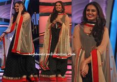 Huma Qureshi Promotes D-Day On DID Super Moms Sets in sva by sonam and paras modi