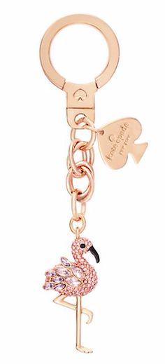 Jazz up your keys with this gold flamingo Kate Spade keychain