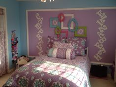 Pottery Barn Kids bedding for 4 year old girl! So fun!