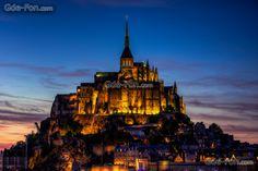 Download Hintergrund Mont-Saint-Michel, le Mont-St.-Michel, Basse-Normandie, Frankreich Freie desktop Tapeten in der Auflosung 2048x1367 — bild №482724