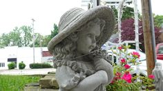 Little Girl Statue - Berea, Ohio. Bazah Home Arts