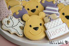 Pooh's 1st Birthday cookies.
