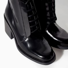 ZARA - TRAFALUC - HIGH HEEL ANKLE BOOT WITH LACES