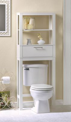 In an instant, this accessory creates display and storage space in even the smallest of bathrooms! Two display shelves are perfect for soaps, lotions, and any other bathroom accessories, while the com
