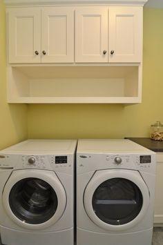 cabinet/shelves above laundry
