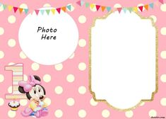 Free Minnie Mouse Invitation Template Best Of Free Printable Minnie Mouse Birthday Invitations Create Birthday Invitations, 1st Birthday Invitation Template, Minnie Mouse Birthday Invitations, Minnie Mouse First Birthday, Mickey Mouse Invitation, Invitation Maker, Mickey Birthday, Cake Birthday, Shower Invitation
