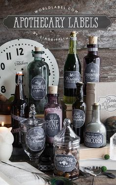 Halloween is almost here and to decorate your home for friends and foe, a set of spooky Apothecary labels is a must. print out these spooky apothecary labels to use on jars, as well as for embellis…