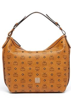 5370c2a973ac7 MCM  Small Gold Visetos  Coated Canvas Hobo available at  Nordstrom Hobo  Purses