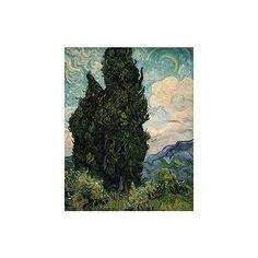Vincent van Gogh: Cypresses (49.30) | Heilbrunn Timeline of Art... ❤ liked on Polyvore featuring van gogh