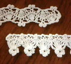 Hairpin Lace Edging OFICINA DO BARRADO: Crochê de grampos no Barradinho ...
