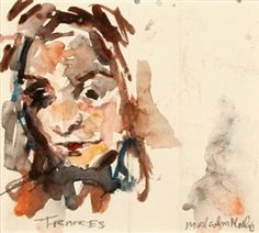 Artwork by Malcolm Morley, Frances, Made of Watercolor on paper