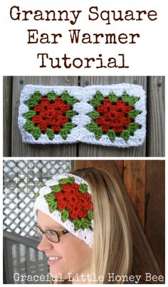 These ear warmers are fast and easy to crochet and the color options are endless! Loom Knitting Patterns, Crochet Patterns, Knitting Tutorials, Free Knitting, Stitch Patterns, Vintage Knitting, Hat Patterns, Crochet Ideas, Granny Square Crochet Pattern