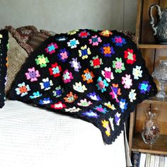 Crochet Baby Blanket Small Granny Square by ReneeBrownsDesigns, $45.00