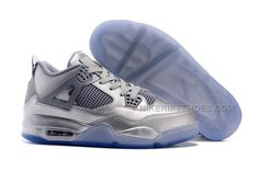 best cheap 27947 ba5bc 2015 Nike Air Jordan 4 IV Retro 30th Sneakers All Silver Transparent Soles  Mens Basketball Shoes Discount Sale, Price   119.00 - Nike Rift Shoes