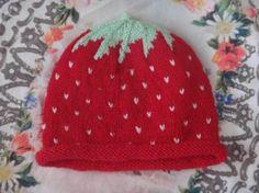 Erdbeer Baby Mütze