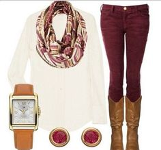 Super cute fall outfit : matching colors: cute and simple