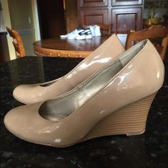 Selling this Great deal! Cute wedge beige shoes! in my Poshmark closet! My username is: jadeline. #shopmycloset #poshmark #fashion #shopping #style #forsale #Shoes