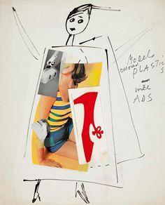 """Fashion Figure"" by Andy Warhol, circa 1963"