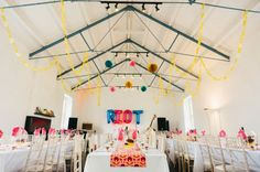 Cute diy wedding decor at the playhouse theatre derry northern 60s inspired abandoned hill fort punk wedding babb photo 24 junglespirit Choice Image