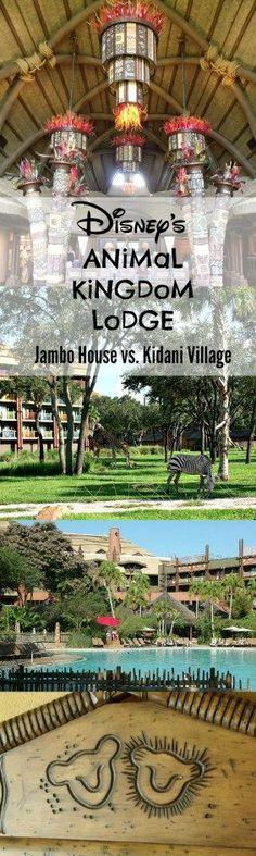 Thorough review of Animal Kingdom Lodge at Disney World, comparing Jambo House vs. Kidani Village