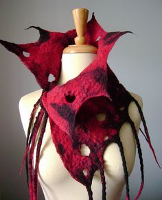 Hand felted wool neckwarmer FROM AN ASH INTO THE FIRE / OOAK   Flickr - Photo Sharing!
