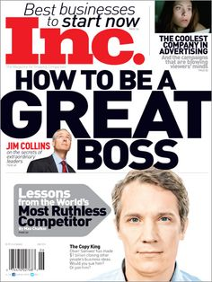 Articles in Inc. Magazine lead to a lot of discussions and changes around here. Makes us think. We like that. | http://www.inc.com/