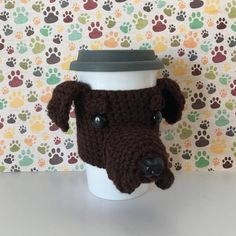 Dog Crochet Pattern Amigurumi Patterns Mug Cozy by HookedbyAngel