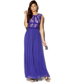 Rampage Juniors Dress, Sleeveless Lace Gown - Dresses - Women - Macys