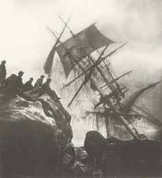The laws of salvage. like sanctioned piracy and a mark of the continued ambiguity of marginal/transitional areas like the line between land and sea between civilisation and the wild untamed zones of the wider world Abandoned Ships, Pirate Life, Pirate Art, Ghost Ship, Sail Away, Shipwreck, Tall Ships, Water Crafts, Old Photos