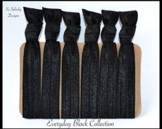 Party favors hair ties jewelry and accessories by SoSplashyDesigns No Crease Hair Ties, Elastic Hair Ties, Soft Hair, Tie Set, Ponytail Holders, Black Hair, Party Favors, Summer Outfits, Hair Accessories