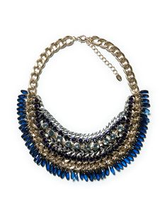 This beautiful bit of bling will work well with this season's navy, amping up any look in an instant.