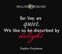 our lives are quiet  I  ballarddesigns.com