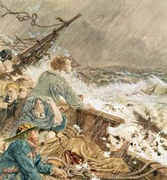 William Bell Scott - Grace Darling and her father saving the shipwrecked crew, 17th September 1838
