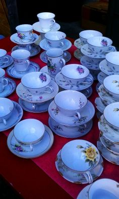 Lot Of 40 Vintage Teacups, 50% off | Recycled Bride
