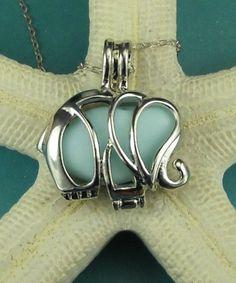 Elephant sea glass necklace