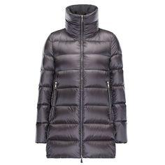 Women Moncler Grey Torcyn Ultra-Lightweight Padded Nylon Jacket