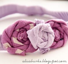 AlisaBurke.com makes baby headbands out of old baby clothes.  Need to make these for my little girl! :)