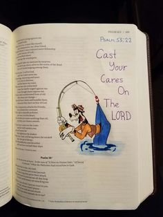 Terra Ragan: Bible Journal - Psalm 55:22 Cast your cares on the Lord Goofy Disney