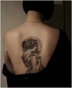 An Alphonse Mucha tattoo- this is the artwork that I want to use as the basis for my tarot tattoo...