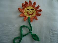 Marca Página Crochê Smile Girassol
