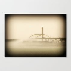 Hoan Bridge-Milwaukee Stretched Canvas by Dawn East Sider - $85.00