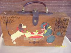 Gary Gails 1960s French Poodle Wooden Purse I had a child's version of this same purse.