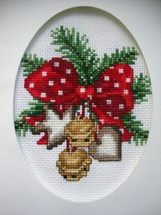 finished cross stitch in Handcrafted and Finished Pieces of Quilts Cross Stitch Christmas Cards, Xmas Cross Stitch, Cross Stitch Cards, Christmas Cross, Counted Cross Stitch Patterns, Cross Stitch Designs, Cross Stitching, Cross Stitch Embroidery, Cross Stitch Pictures