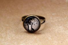 Wunderschöner bronzefarbener Ring mit  tollem Giraffen Motiv im Vintage - Look - hergestellt mit viel Liebe.
