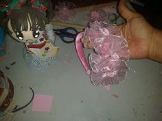 DIY como hacer diadema para niña   para ceremonia