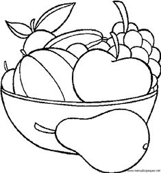 Print out Fruits Pear Watermelon and apple coloring in pagesFree Printable Coloring Pages For Kids. Vegetable Coloring Pages, Fruit Coloring Pages, Preschool Coloring Pages, Apple Coloring, Printable Coloring Pages, Colouring Pages, Free Coloring, Coloring Pages For Kids, Coloring Books
